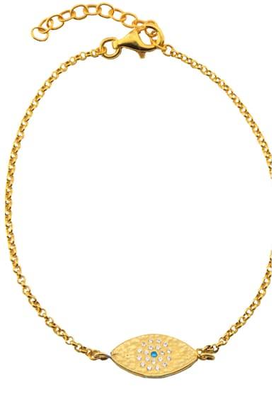 OXETTE Bratara placata cu aur de 18K, decorata cu cristale Femei
