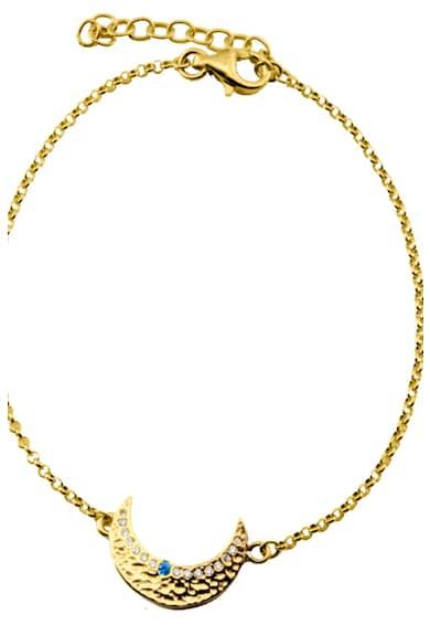 OXETTE Bratara placata cu aur de 18K, cu pandantiv in forma de luna Femei