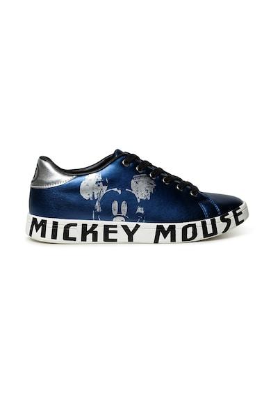 DESIGUAL Pantofi sport de piele ecologica cu model Mickey Mouse Femei