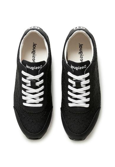 DESIGUAL Pantofi sport de piele ecologica cu design brodat Femei