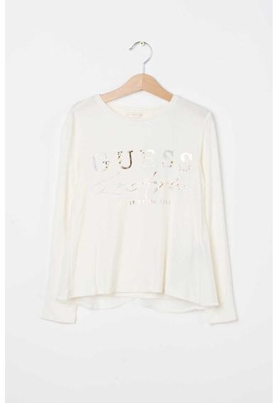 GUESS JEANS Bluza cu logo si aplicatie text Fete