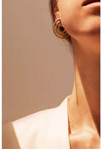MONOM Cercei de argint veritabil, placati cu aur de 24 K The Introspect Femei