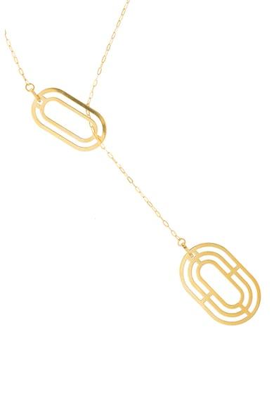 MONOM Colier de argint placat cu aur de 24K Solaria Femei