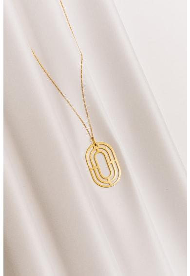 MONOM Colier cu pandantiv, de argint placat cu aur de 24K Solaria Femei