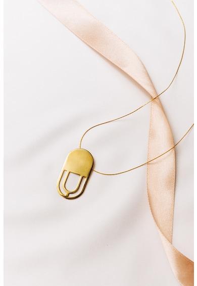 MONOM Colier de argint placat cu aur de 24K Luna Femei