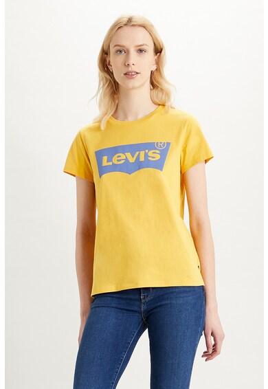 Levi's Tricou cu decolteu la baza gatului si logo Femei