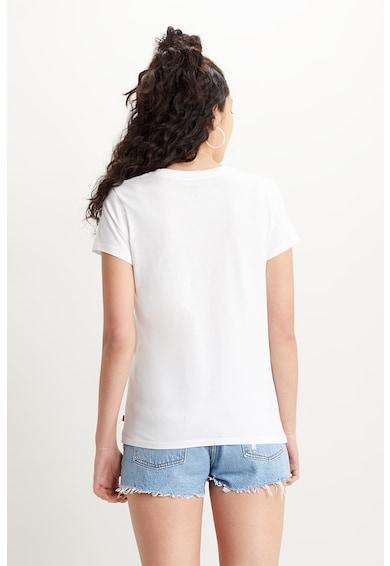 Levi's Tricou cu decolteu la baza gatului si imprimeu frontal Femei