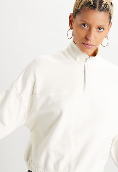 Levi's Bluza sport cu fermoar scurt Pom Quarter Femei