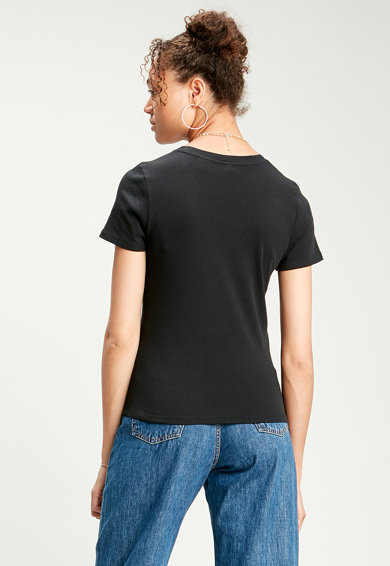 Levi's Tricou cu decolteu la baza gatului si logo brodat pe piept Femei