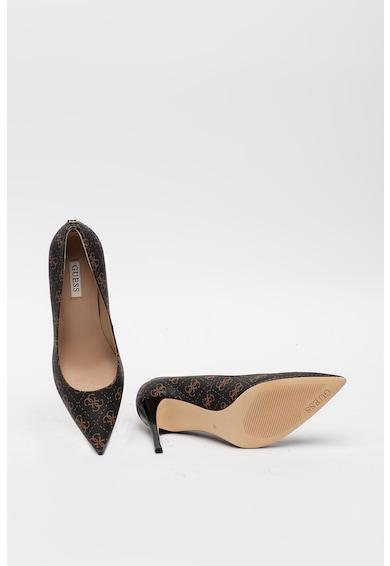 Guess Pantofi stiletto de piele ecologica cu imprimeu logo Femei