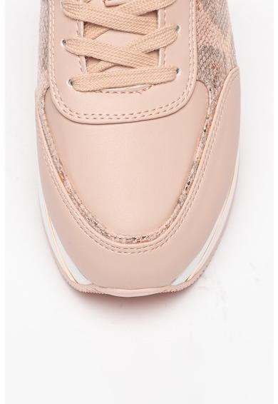 Guess Pantofi sport flatform din piele ecologica cu insertii cu model piele de reptila Femei