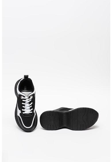 Guess Pantofi sport din piele ecologica cu insertii din plasa Femei