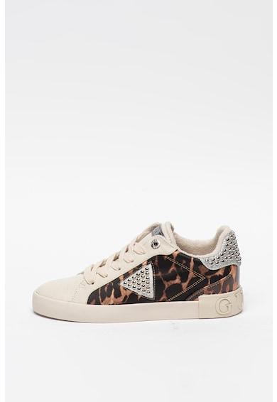 Guess Pantofi sport cu aplicatii cu nituri si garnituri cu animal print Femei