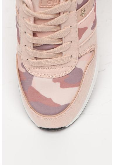 Guess Pantofi sport cu garnituri cu imprimeu camuflaj Femei