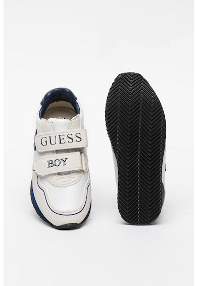 Guess Pantofi sport cu garnituri de piele intoarsa ecologica si velcro Baieti