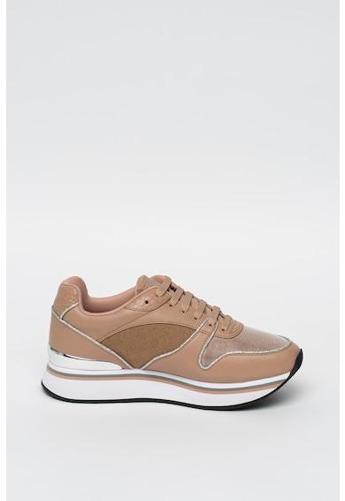 Emporio Armani Pantofi sport wedge de piele si material sintetic Femei