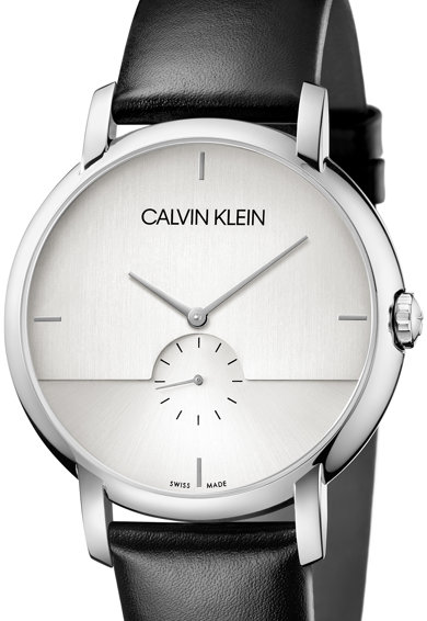 CALVIN KLEIN Ceas quartz cu o curea de piele Barbati