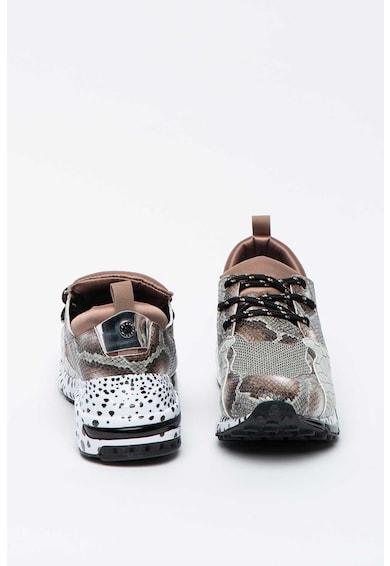 Steve Madden Pantofi sport cu talpa wedge si animal print Cliff Femei