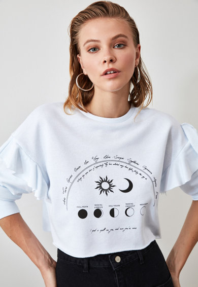 Trendyol Bluza spot cu imprimeu astral Femei