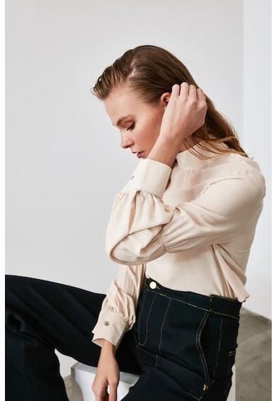Trendyol Bluza cu maneci lungi si guler ascutit Femei