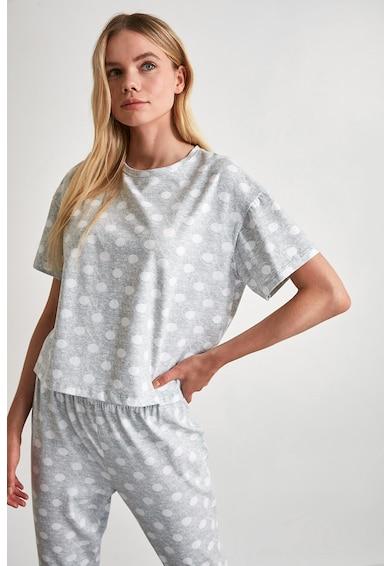 Trendyol Pijama din bumbac cu imprimeu cu buline Femei