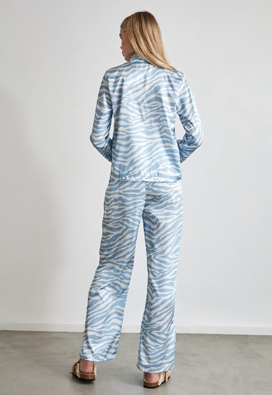 Trendyol Pijama din satin cu animal print Femei