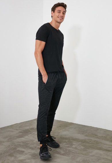 Trendyol Pantaloni sport cu snur de ajustare in talie N Barbati