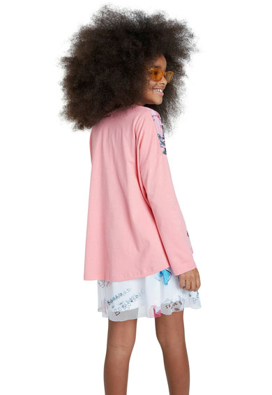 DESIGUAL Bluza cu imprimeu si maneci drop Fete