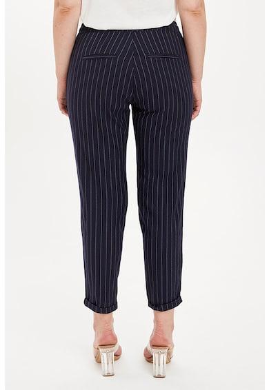 DeFacto Pantaloni crop conici cu model in carouri si snur in talie Femei