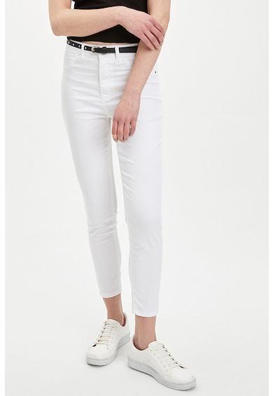 DeFacto Pantaloni skinny crop cu talie inalta Femei