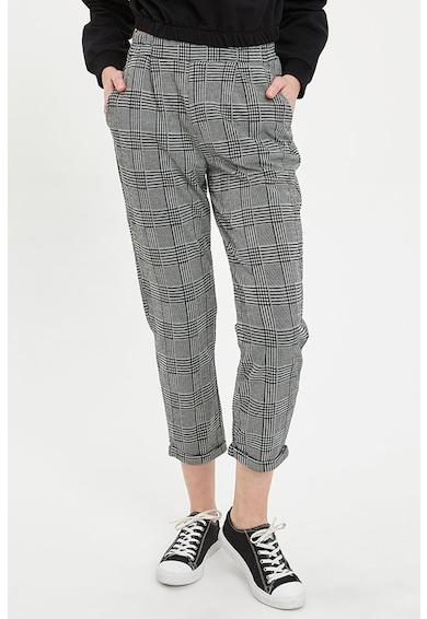 DeFacto Pantaloni crop cu model in carouri Femei