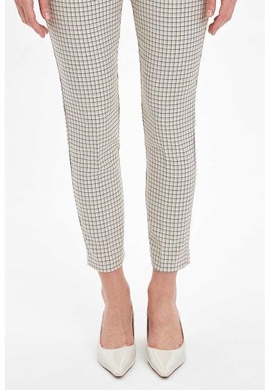 DeFacto Pantaloni elastici cu model in carouri Femei