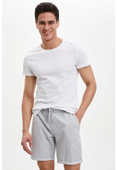 DeFacto Pantaloni scurti cu model in dungi si snur de ajustare in talie Barbati