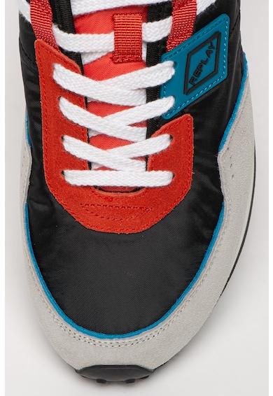 Replay Pantofi sport colorblock cu garnituri de piele intoarsa Drum Pro Wave Barbati