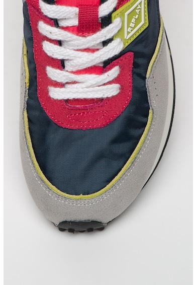 Replay Pantofi sport din material textil si piele Drum Pro Wave Femei