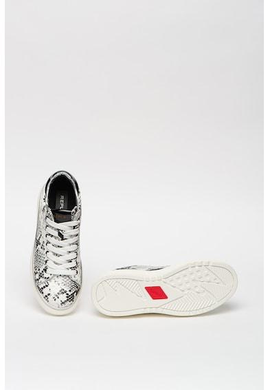 Replay Pantofi sport de piele ecologica, cu imprimeu cu model piele de sarpe Hedland Femei