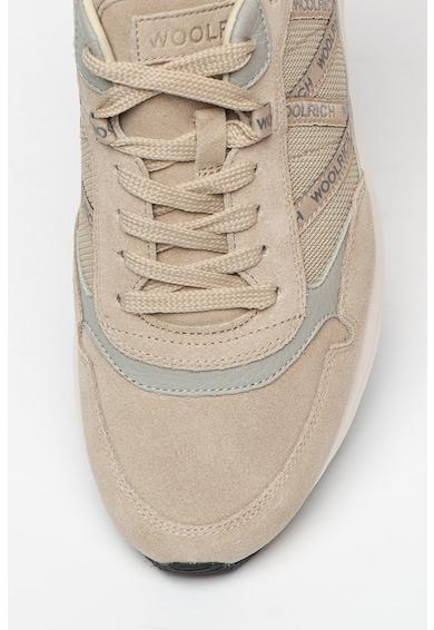 Woolrich Pantofi sport de piele intoarsa cu insertii de plasa Barbati