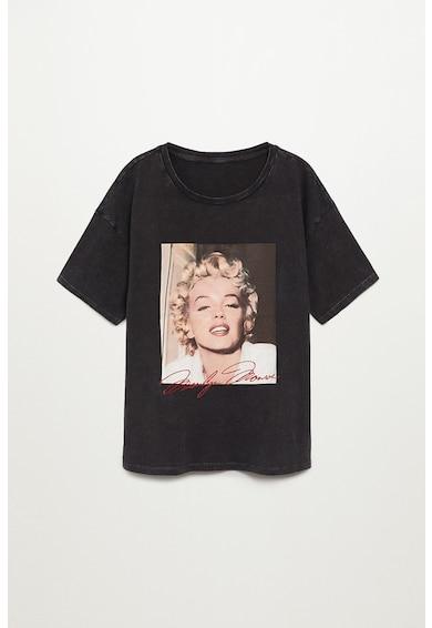 VIOLETA BY MANGO Tricou cu imprimeu grafic Marilyn Femei