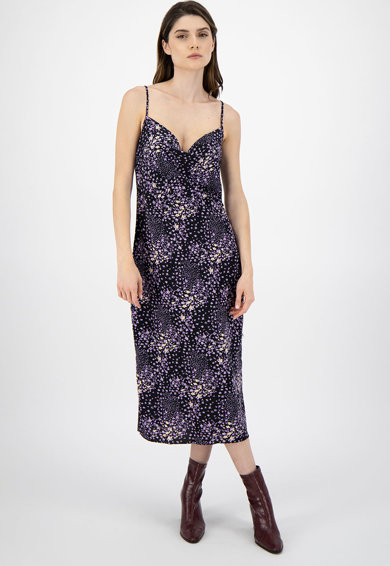 Missguided Rochie cu model floral si decolteu drapat Femei