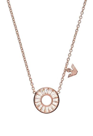 Emporio Armani Colier din lant cu pandantiv circular Femei