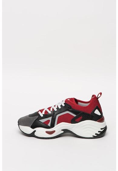 Emporio Armani Pantofi sport masivi cu insertii de piele intoarsa Barbati