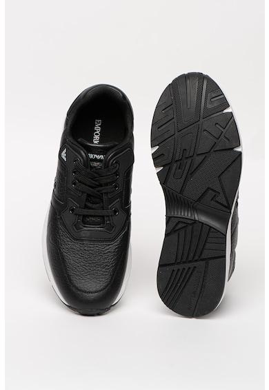 Emporio Armani Pantofi sport cu siret si piele Barbati