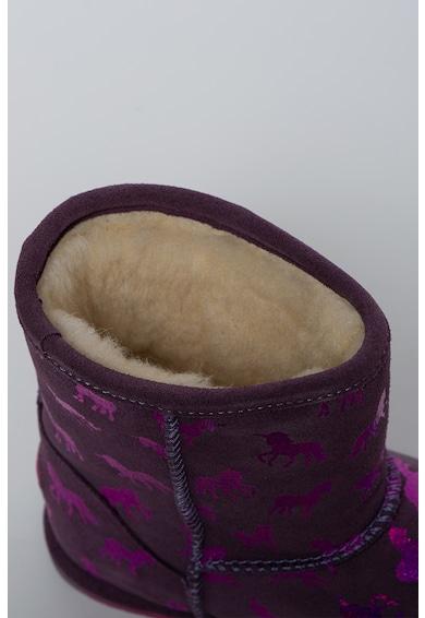 Emu Cizme medii de iarna din piele intoarsa Rainbow Unicorn Brumby Fete