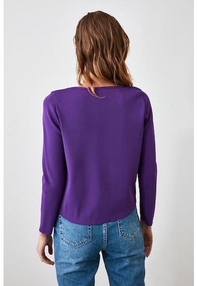 Trendyol Pulover tricotat fin, cu decolteu in V Femei