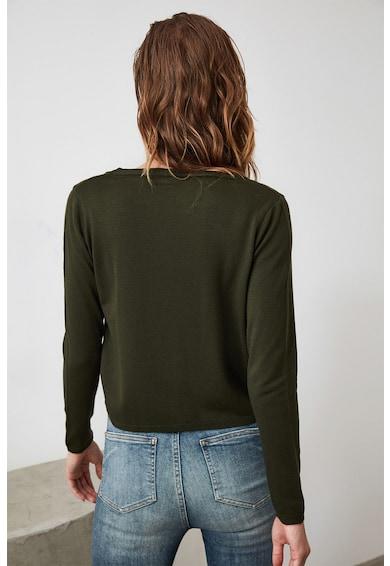 Trendyol Set de cardigan tricotat fin si top crop Femei