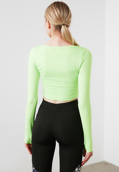 Trendyol Bluza cu decupaj frontal Femei