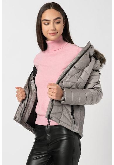 SUPERDRY Steppelt télikabát kapucnival női