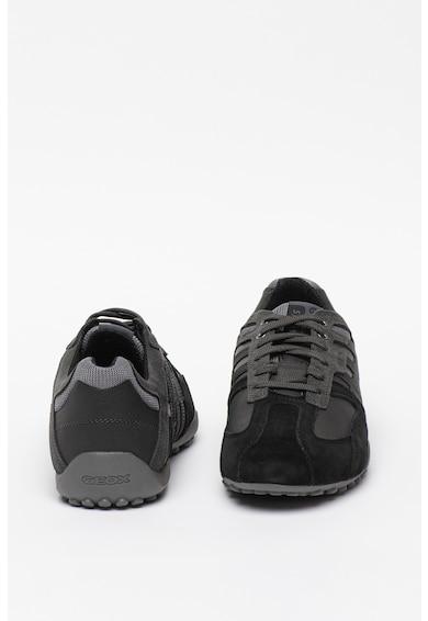 Geox Pantofi sport de piele ecologica Nihal Barbati