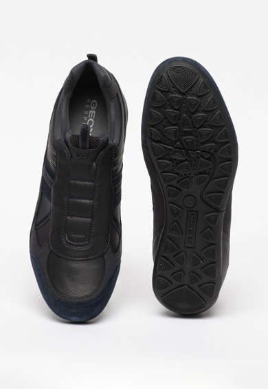 Geox Pantofi sport de piele cu insertii de piele intoarsa Ravex Barbati