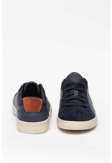 Geox Pantofi sport de piele cu insertii de piele intoarsa Warley Barbati